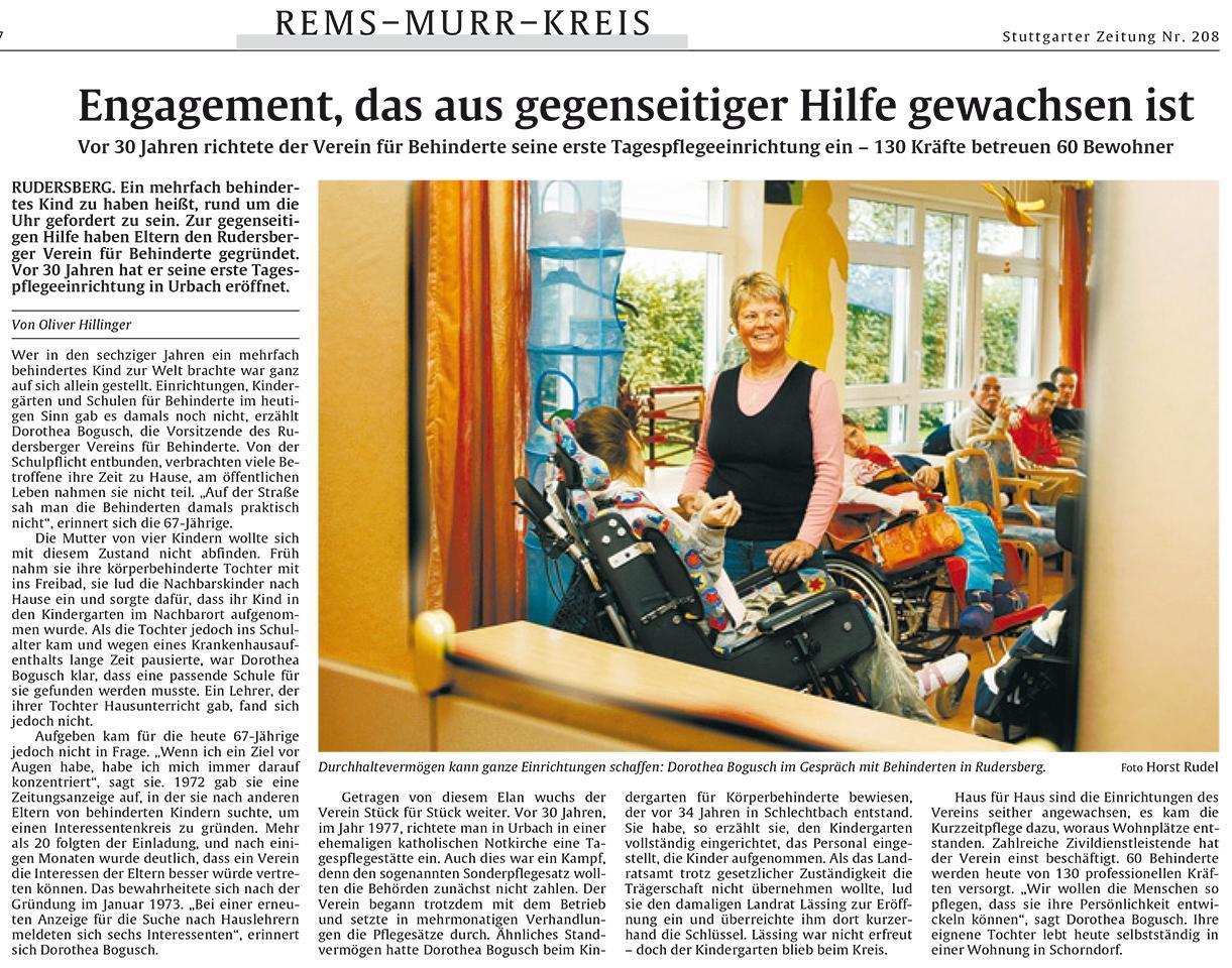 Stuttgarter Zeitung, 08.09.2007