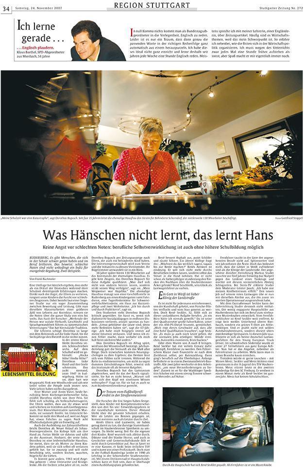 Stuttgarter Zeitung, 24.11.2007