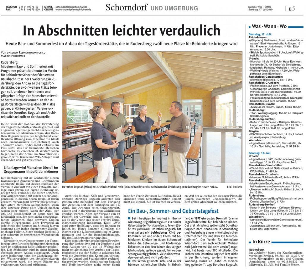 chorndorfer Nachrichten, 17.07.2010